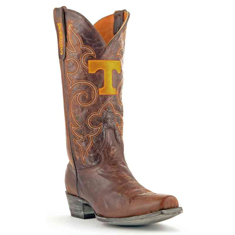Men's Tennessee Volunteers Executive Brass Cowboy Boots