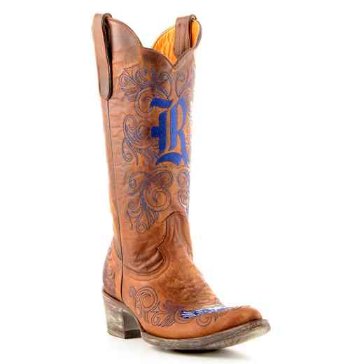 "Women's 13"" Rice Owls Tailgate Cowboy Boots by Gameday Boots"