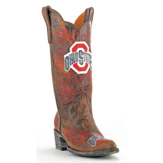 Ohio State Ladies 13'' Brass Gameday Boots