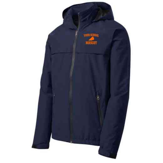 Drill Team Embroidered Waterproof Rain Jacket
