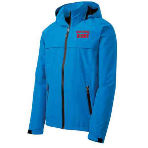 Rugby Embroidered Waterproof Rain Jacket