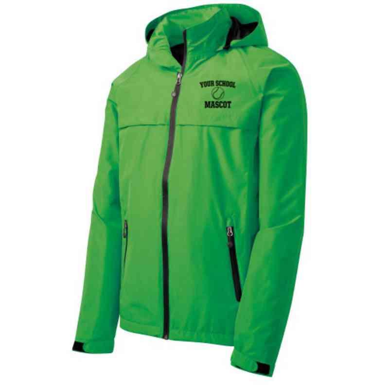Tennis Embroidered Waterproof Rain Jacket
