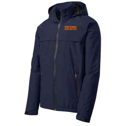 Track and Field Embroidered Waterproof Rain Jacket