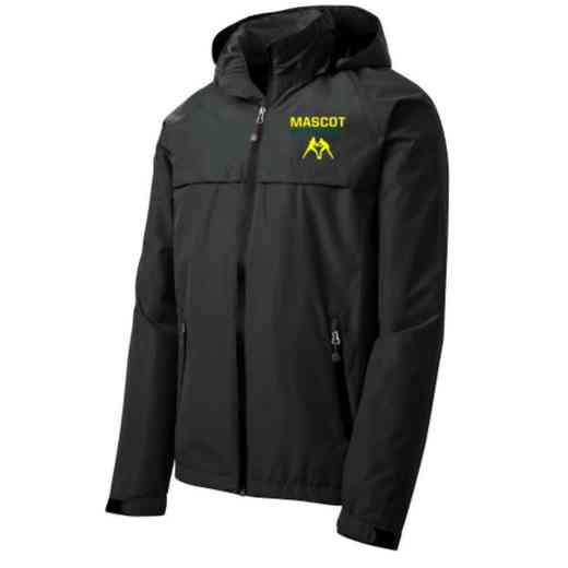Wrestling Embroidered Waterproof Rain Jacket