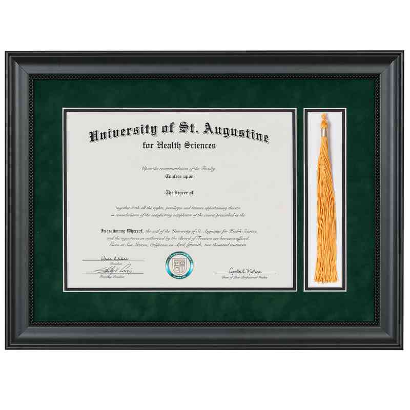 Premium 11 X 14 Black Miami Diploma Frame With Tassel Display