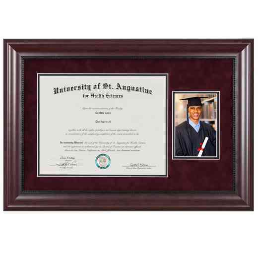 "Premium Classic Diploma Frame with Photo Display fits 11"" x 14"" Diploma"