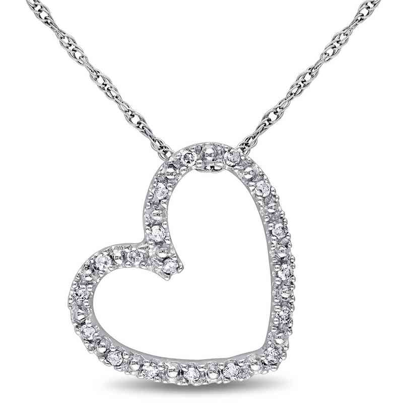 BAL000382: 1/10 CT TW Dmnd Heart NCK  10k White Gold