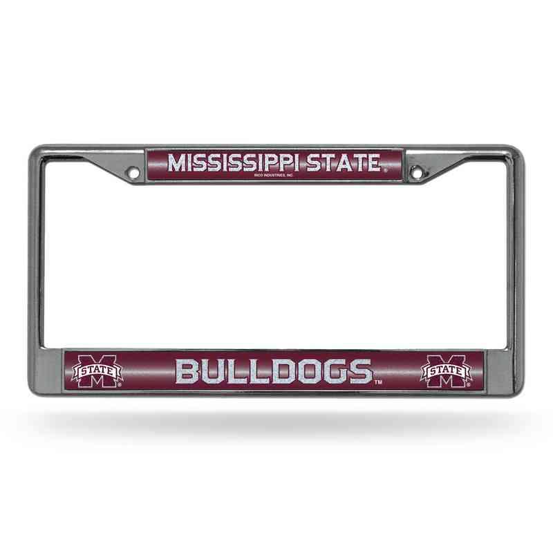 Mississippi State Bling Chrome Frame