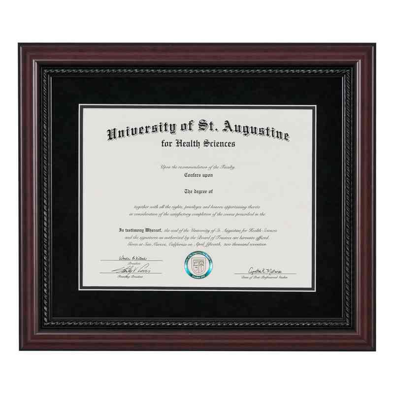 Premium 85 X 11 Rope Diploma Frame