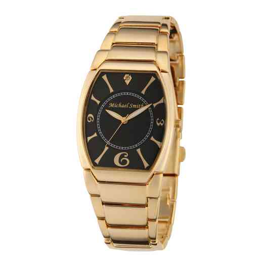 61572-A: Men's Personalized Diamond Accent Gold Tone Link Watch