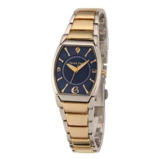 61573-C: Ladie's Personalized Diamond Accent Two Tone Link Watch