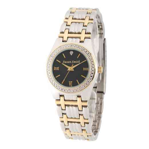 W000792: Ladies Personalized Diamond Accent Gold Tone Watch