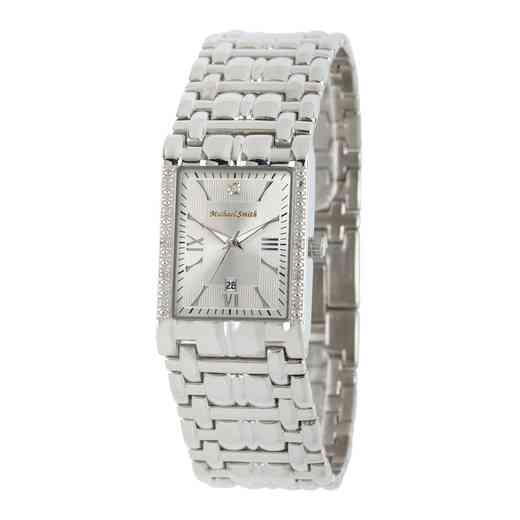 50887-5: Men's Personalized Diamond Accent Silver Tone Watch