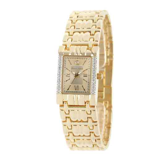 50890-7: Ladies Personalized Diamond Accent Gold Tone Watch