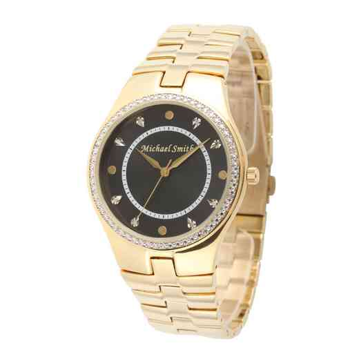 75234-6E-8: Men's Personalized Diamond Accent Gold Tone Watch