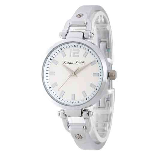 MHK005S: Ladies Personalized Silver Tone Watch