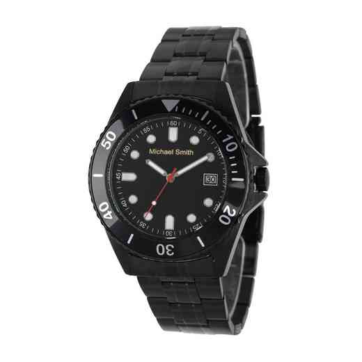 62928-B: Men's Personalized Black Tone Watch