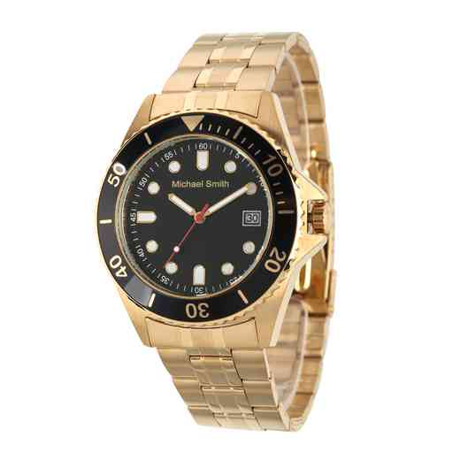 62928-C: Men's Personalized Gold Tone Watch