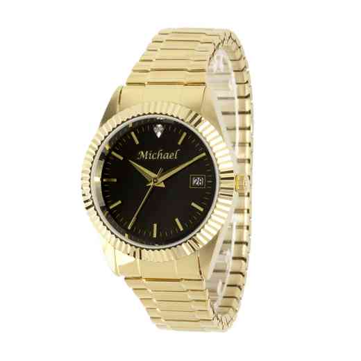 PW00225: Men's Personalized Gold Watch