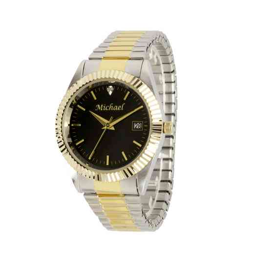 PW00227 : Mens Personalized Accent Two Tone Watch