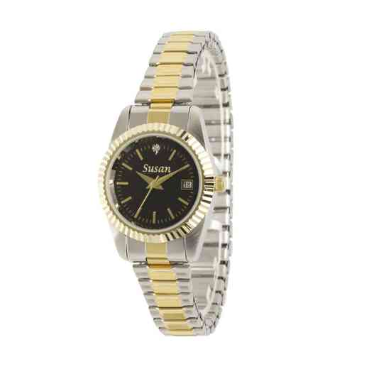 PW00228: Ladies Personalized Accent Two Tone Watch