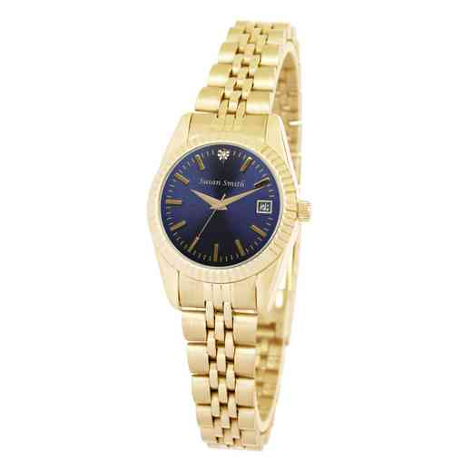 PW00230: Ladies Gold Blue Face Watch