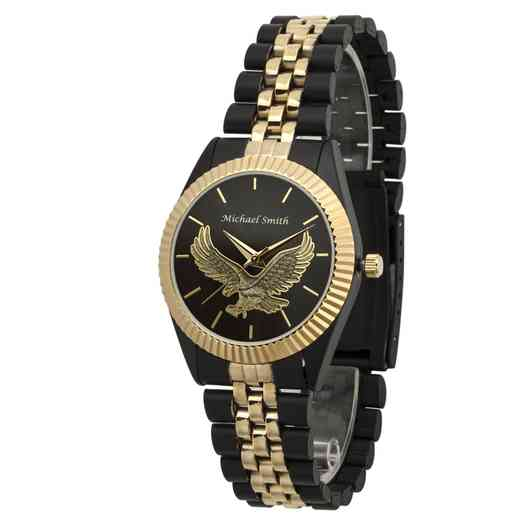 PW00231: Ladies Black  Eagle Two Toned Watch
