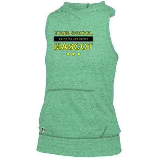 Swimming and Diving Holloway Ladies Advocate Hooded Tank