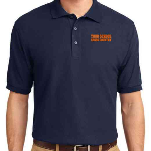 Cross Country Embroidered Adult Silk Touch Polo