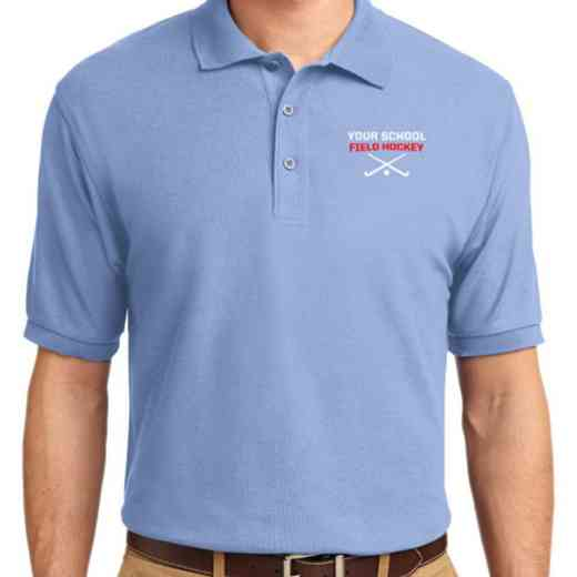 Field Hockey Embroidered Adult Silk Touch Polo