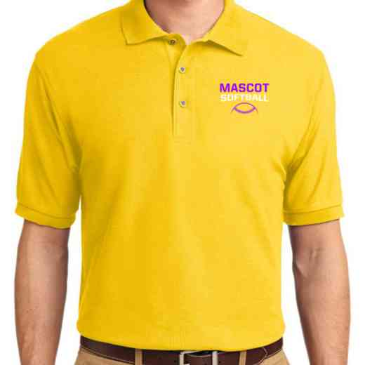 Softball Embroidered Adult Silk Touch Polo