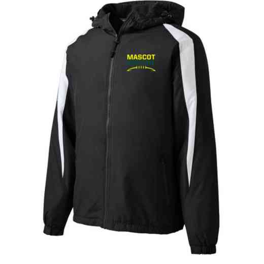 Football Embroidered  Port and Company Waterproof Rain Jacket