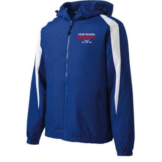 Hockey Embroidered  Port and Company Waterproof Rain Jacket