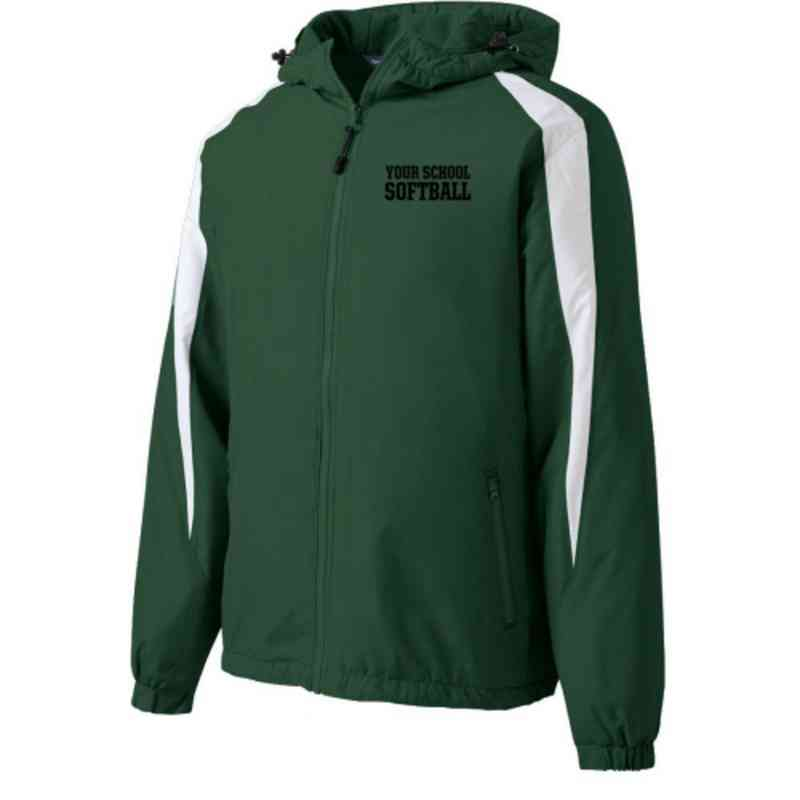 Softball Embroidered  Port and Company Waterproof Rain Jacket