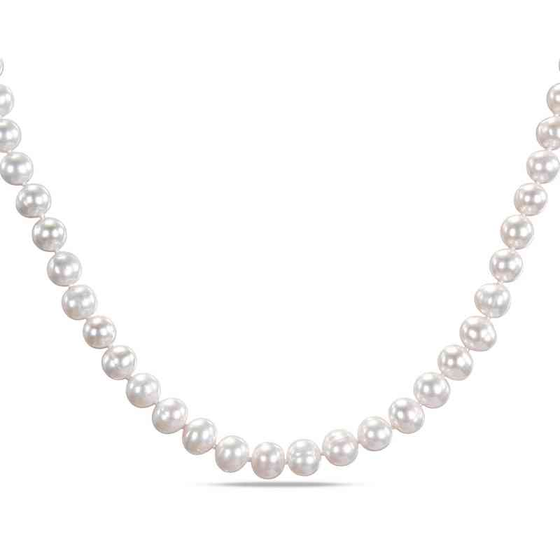 BAL000278: Freshwater Cultured Pearl Strand Necklace w/SS Clasp