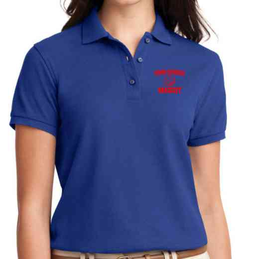 Basketball Embroidered Sport-Tek Women's Silk Touch Polo