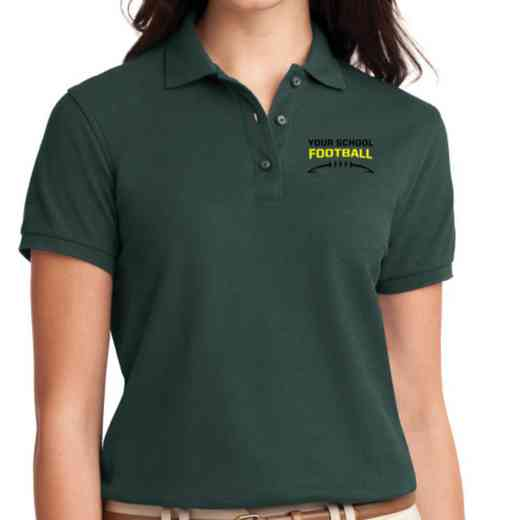 Football Embroidered Sport-Tek Women's Silk Touch Polo
