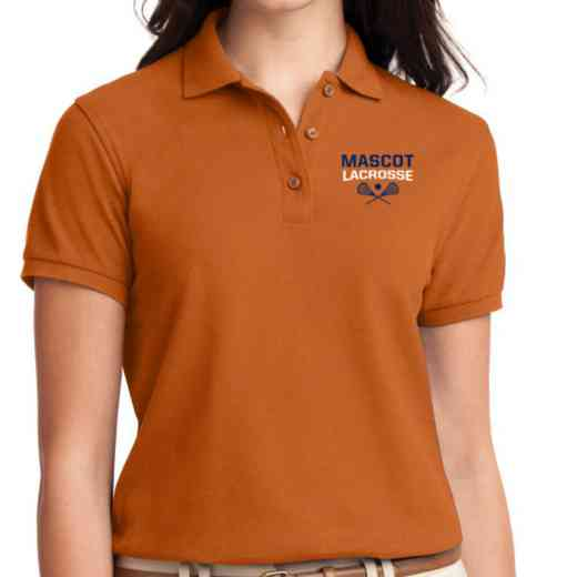 Lacrosse Embroidered Sport-Tek Women's Silk Touch Polo
