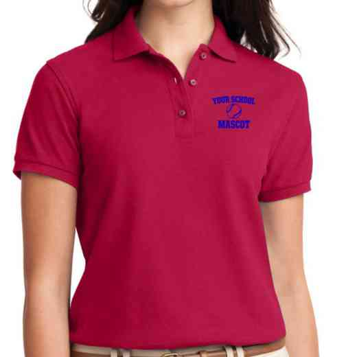 Softball Embroidered Sport-Tek Women's Silk Touch Polo