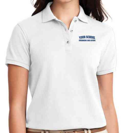 Swimming and Diving Embroidered Sport-Tek Women's Silk Touch Polo