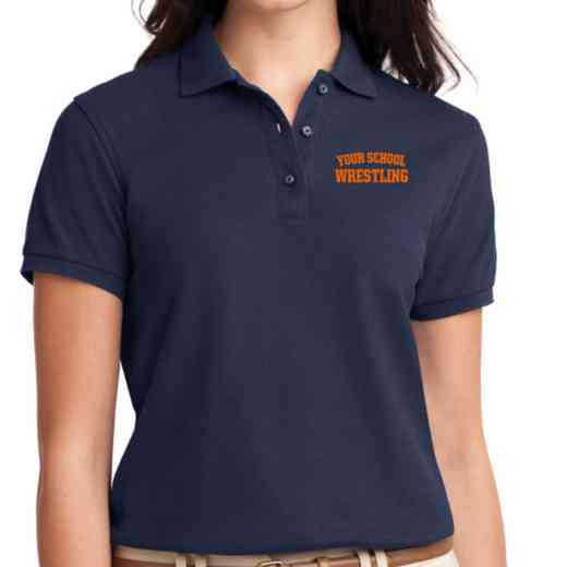 Wrestling Embroidered Sport-Tek Women's Silk Touch Polo