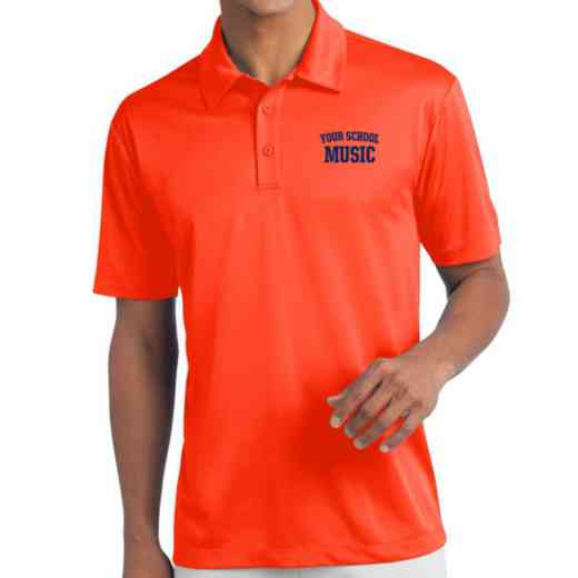 Music Embroidered Silk Touch Performance Polo
