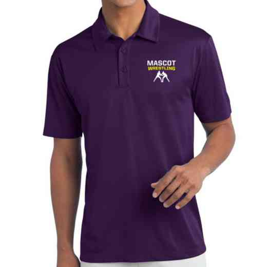 Wrestling Embroidered Silk Touch Performance Polo