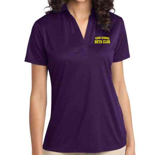 Beta Club Embroidered Women's Silk Touch Performance Polo