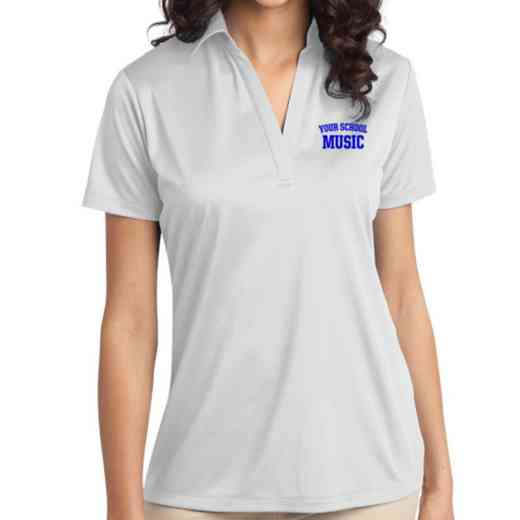 Music Embroidered Women's Silk Touch Performance Polo