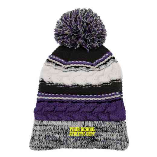 Athletic Department Embroidered  Sport-Tek Pom Pom Knit Beanie