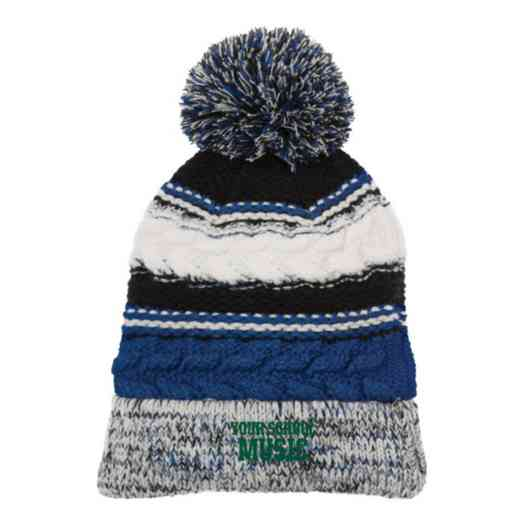 Music Embroidered  Sport-Tek Pom Pom Knit Beanie