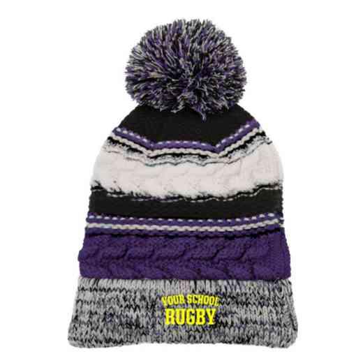 Rugby Embroidered  Sport-Tek Pom Pom Knit Beanie