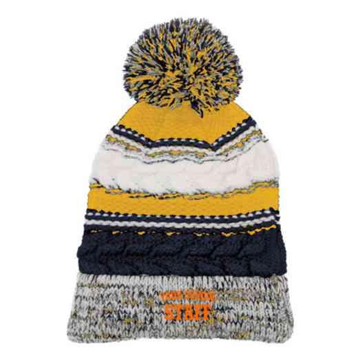 Staff Embroidered  Sport-Tek Pom Pom Knit Beanie