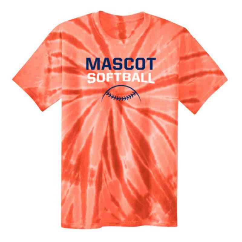 Softball Youth Tie Dye T-Shirt